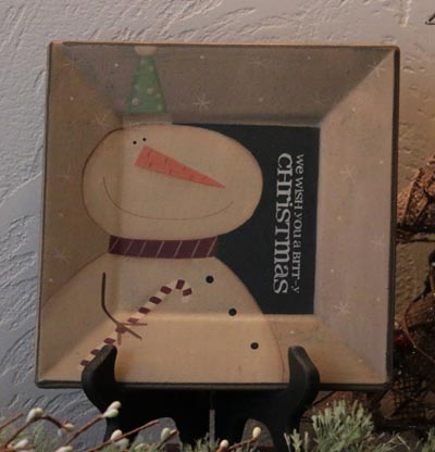 Brrr-y Christmas Snowman Plate
