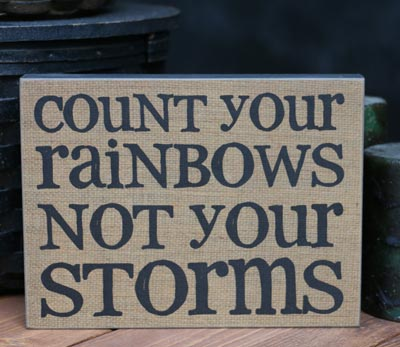 Rainbows Standing Box Sign