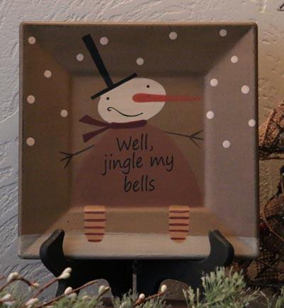 Jingle Bells Square Plate