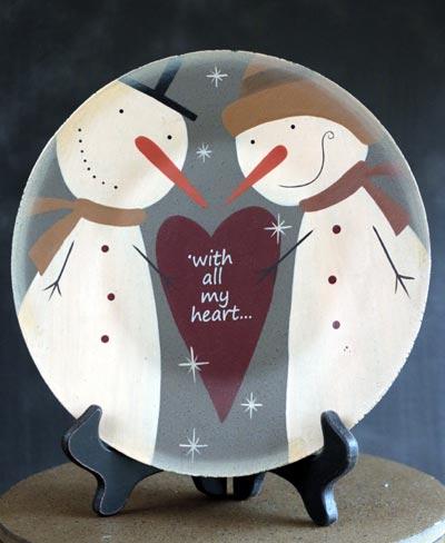 Snowman Love Plate - All My Heart