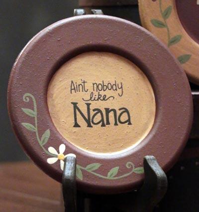 Nobody Like Nana Plate