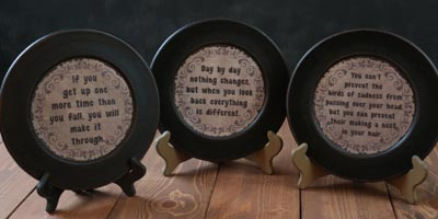 Changes Distressed Plates (Set of 3)