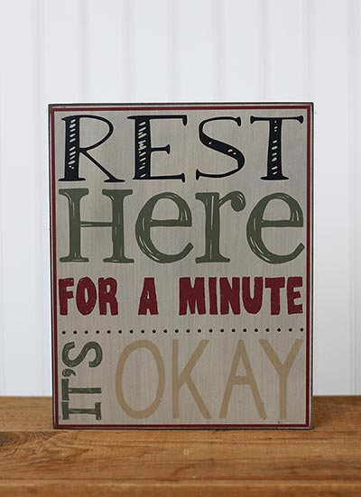 It's OK Primitive Box Sign