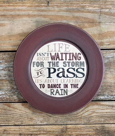 Dance in the Rain Distressed Plate