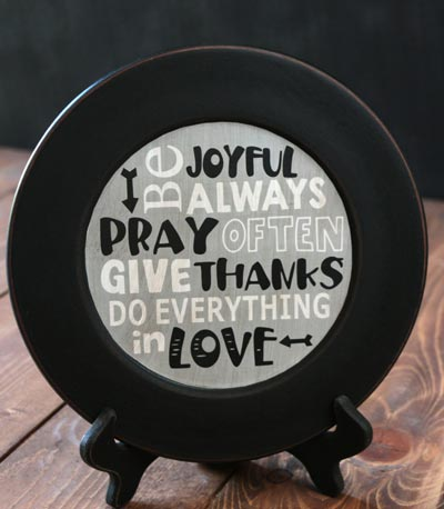 Do Everything in Love Plate