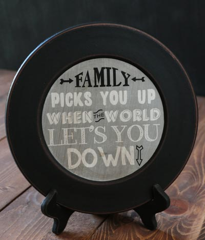 Family Picks You Up Plate