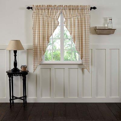Annie Buffalo Tan Check Prairie Curtain