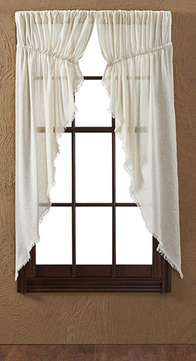 Tobacco Cloth Prairie Curtain - Natural