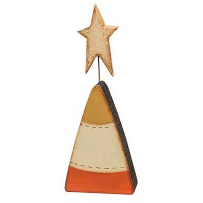 Candy Corn Shelf Sitter with Star