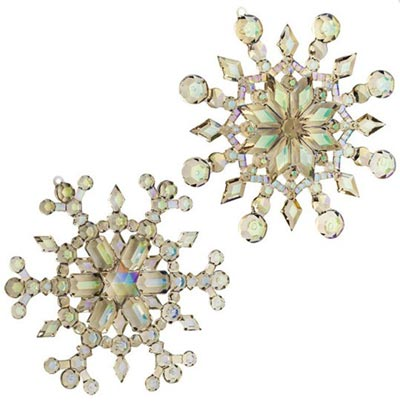 Embellished Joy Snowflake Ornament