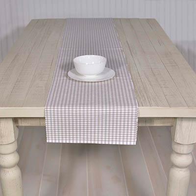 Tara Grey 90 inch Table Runner
