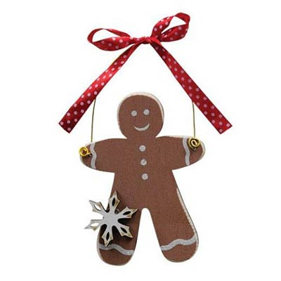 Gingerbread Ornament with Snowflake