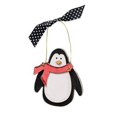Penguin with Red Scarf Ornament