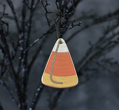 Candy Corn Wood Ornament