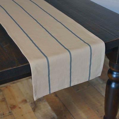 Lauren Steel Blue 90 inch Table Runner