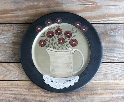 Penney Flowers Primitive Plate