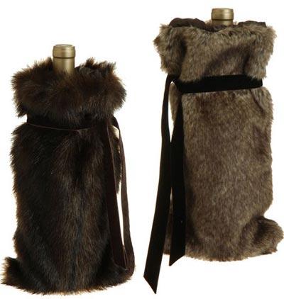 Faux Fur Bottle Cover