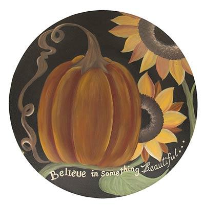 Believe Pumpkin Decorative Plate