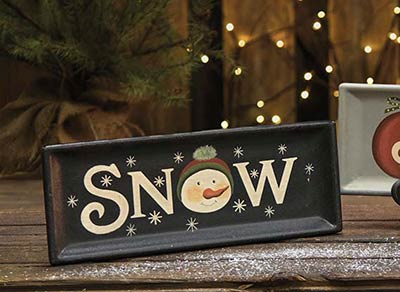 Snow with Snowman Tray