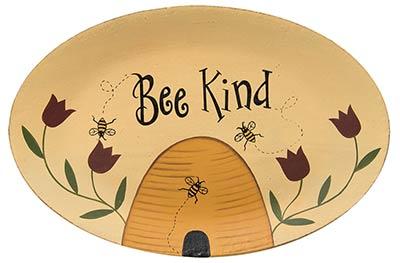Bee Kind Primitive Plate