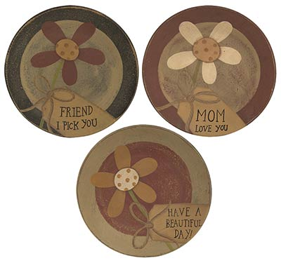 Friend, Mom, & Beautiful Day Plates (Set of 3)