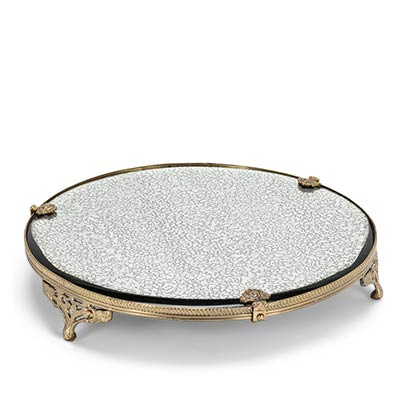 Mirrored Glass Tray