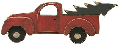 Red Christmas Truck Wall Decor