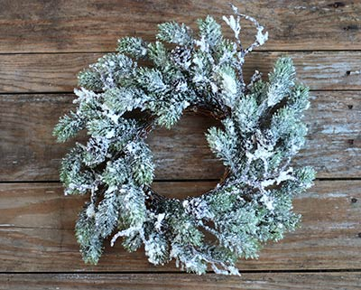Snow Pine Wreath / Candle Ring