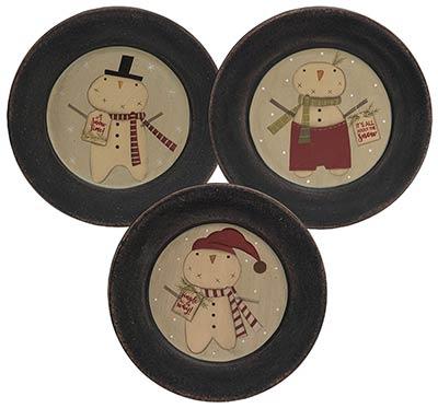 Jingle All the Way Snowman Plates (Set of 3)