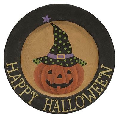 Happy Halloween Primitive Plate
