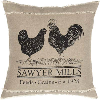 Sawyer Mill Rooster Pillow