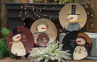Freezin' My Bells Off Plates (Set of 4)