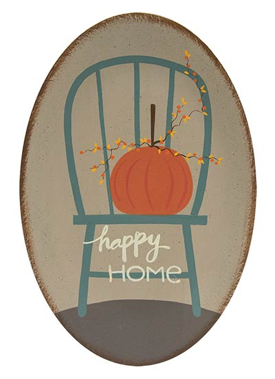 Happy Home Plate with Pumpkin