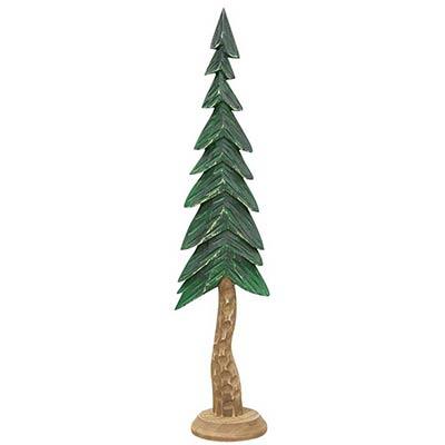 Carved Resin Alpine Tree - 16 inch
