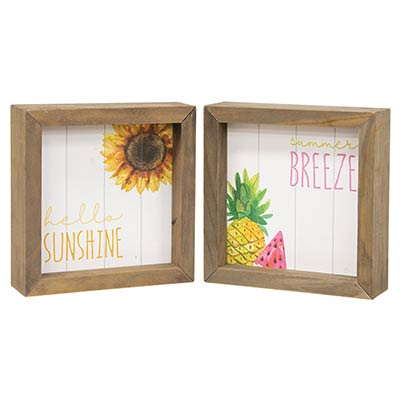 Hello Sunshine Sunflower sign Tiered Tray Farmhouse Summer Kitchen decor