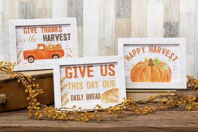 Harvest Easel Sign