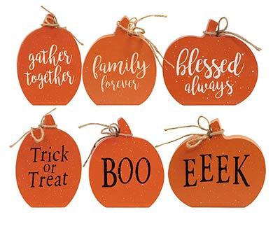 Reversible Pumpkin Shelf Sitters (Set of 3)