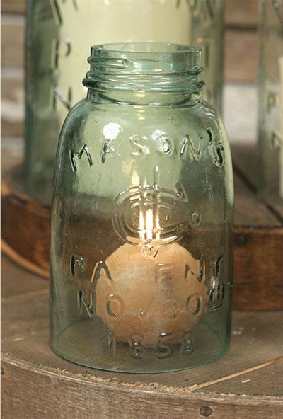 Glass Mason Jar Chimney - Midget Pint Size