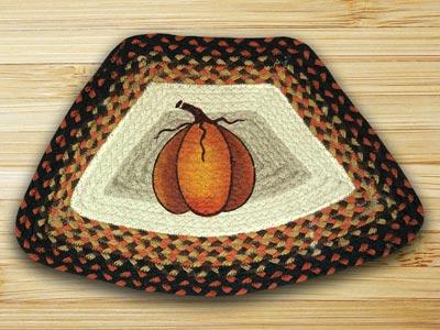 Pumpkin Braided Jute Geo Placemat
