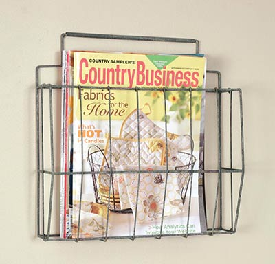 Wire Wall Magazine or File Holder