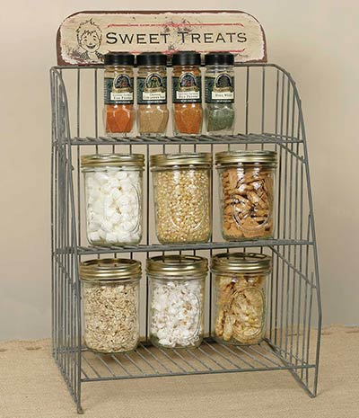 Vintage Mercantile Wire Display Shelf