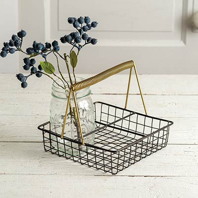 Kitchen Caddy with Gold Handle