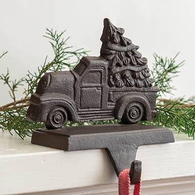 Cast Iron Truck Stocking Holder