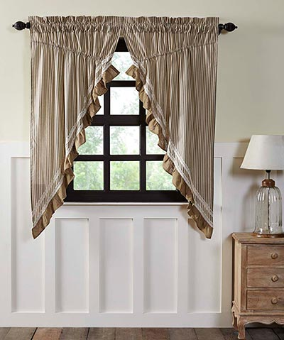 Kendra Stripe Black Prairie Curtain