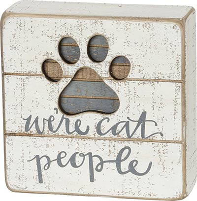 Cat People Box Sign