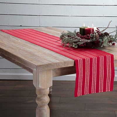 Holly Red 90 inch Table Runner