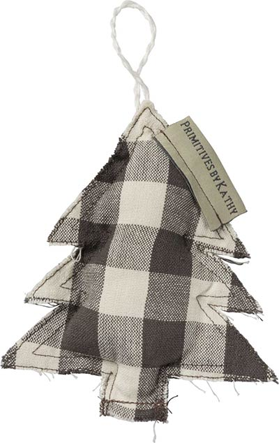 Buffalo Check Gray Tree Ornament