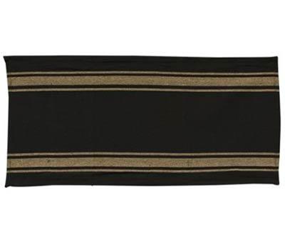 Black Tan Striped 36 inch Table Runner