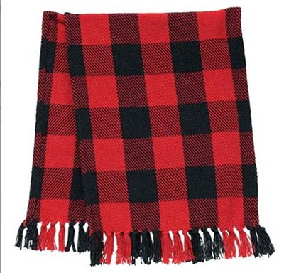 Black and Red Buffalo Check 32 inch Table Runner