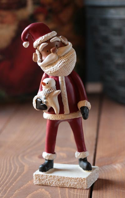 Santa with Snowman Figure